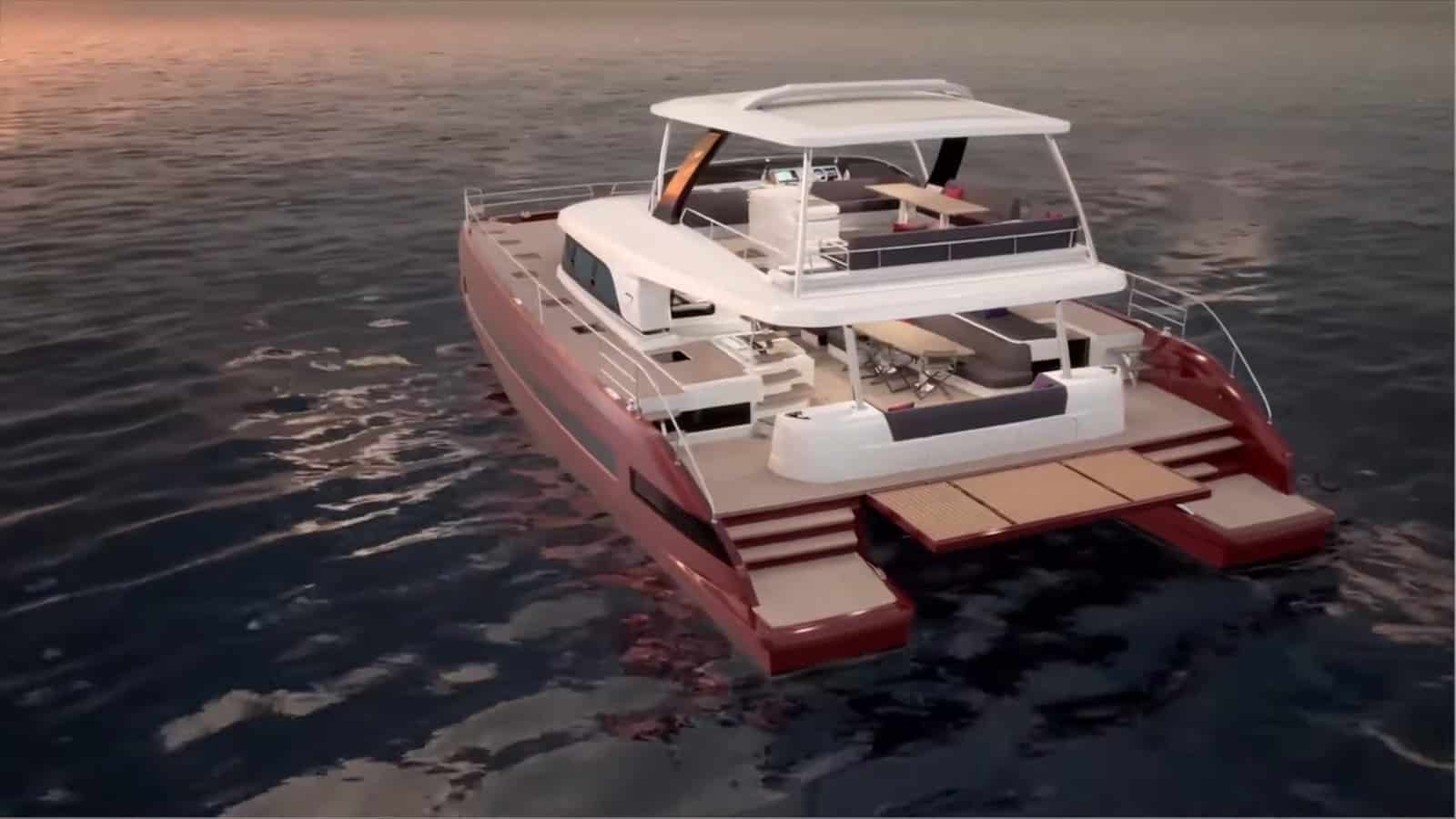 lagoon 67 motor yacht aft view