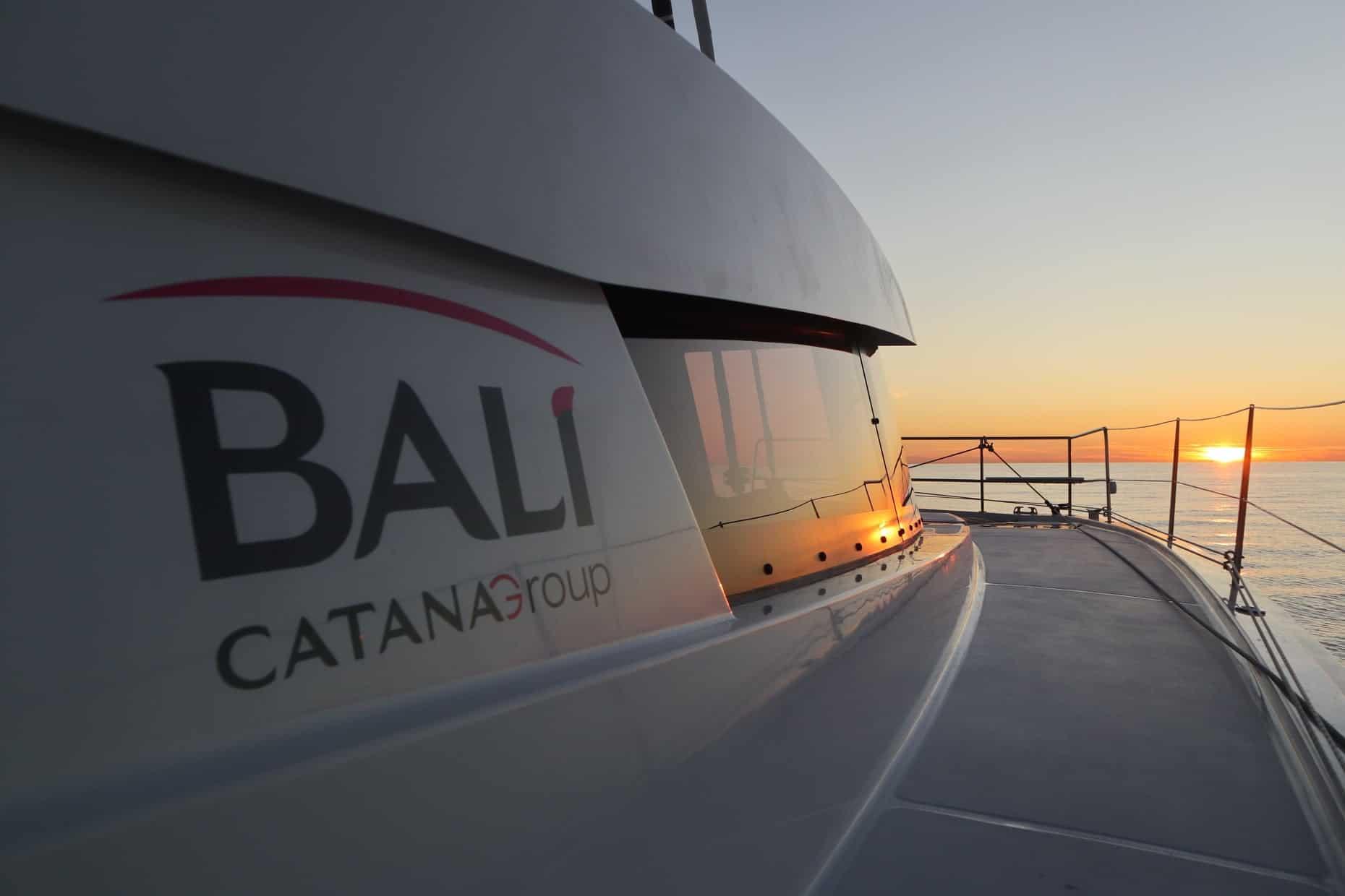 bali 5.4 catamaran named z3 near spain