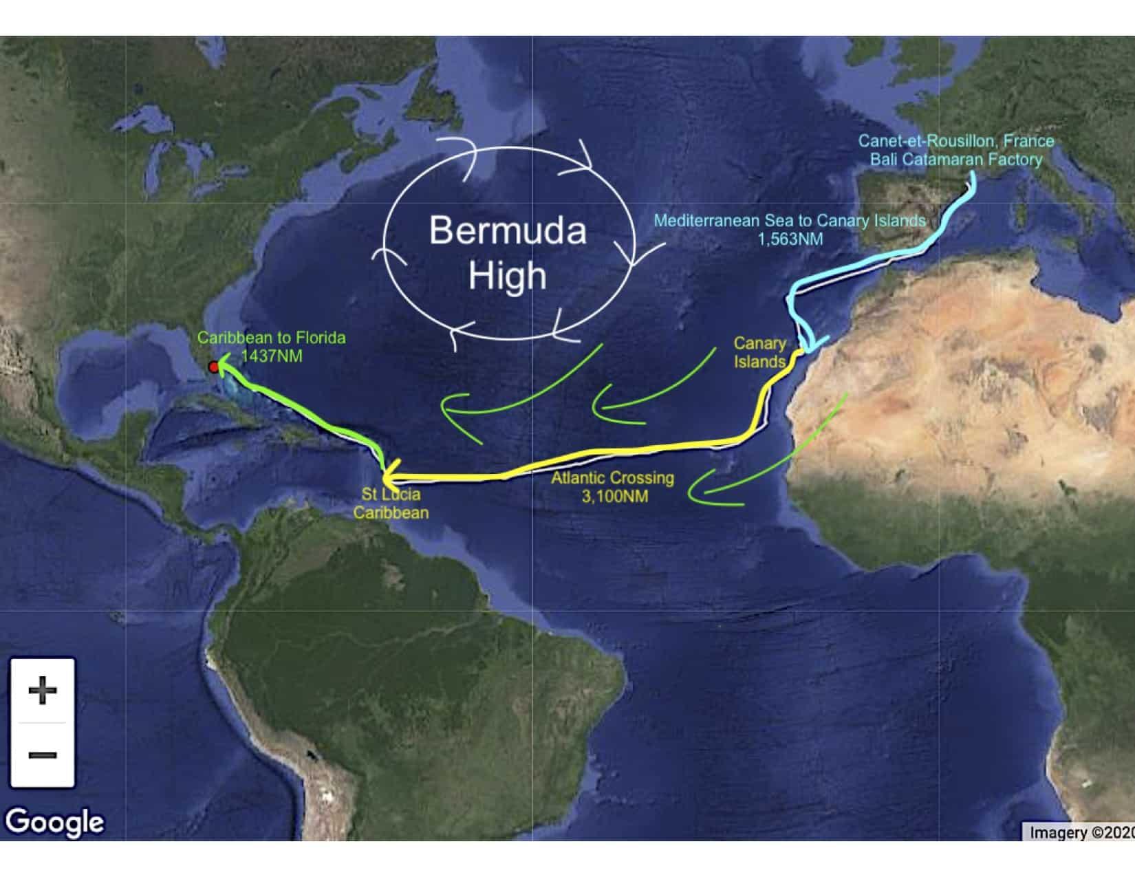 Chart atlantic crossing 1