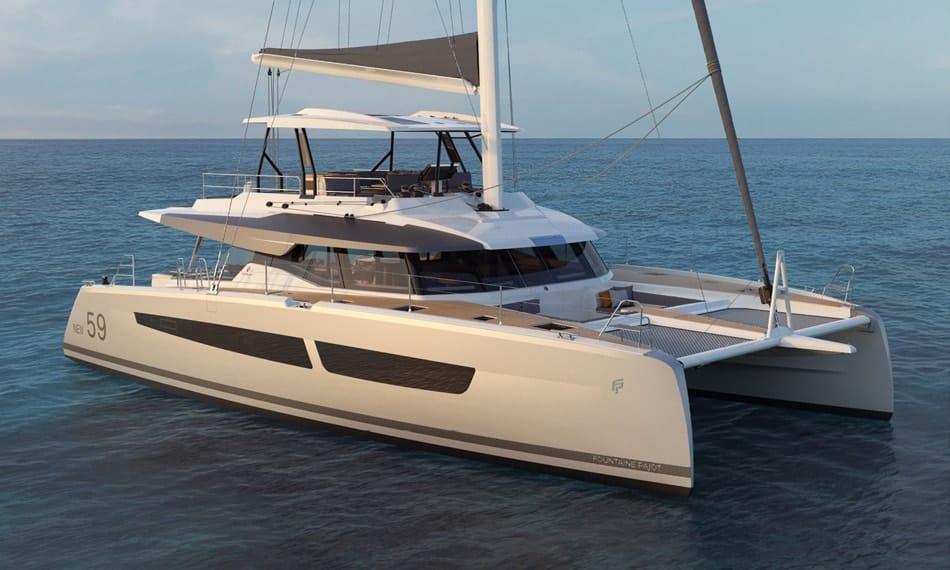 fountaine pajot 59 catamaran for sale into charter management program