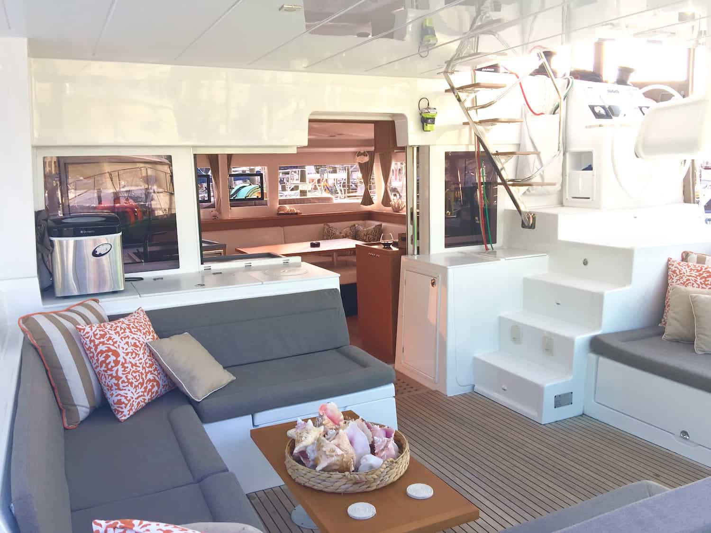 Cockpit of lagoon 450 named Zuri