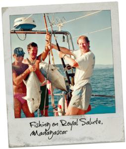 fishing aboard royal salute sailboat in madagascar