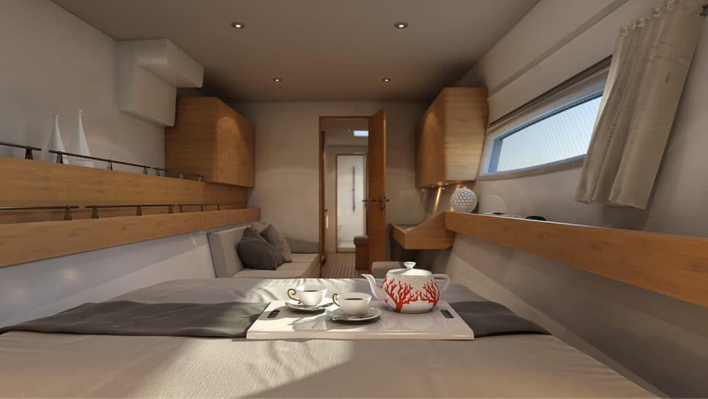 tan 66 master cabin view