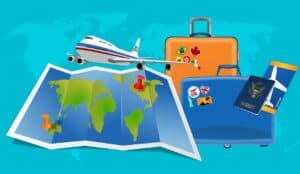 map, flight, vacation